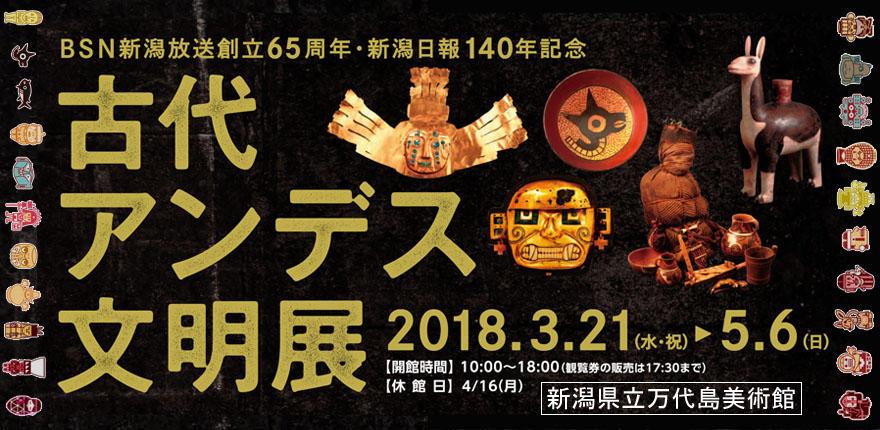BSN新潟放送創立65周年・新潟日報140年記念 古代アンデス文明展イメージ