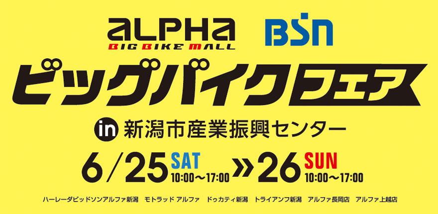 アルファビッグバイクフェア in 新潟市産業振興センターイメージ