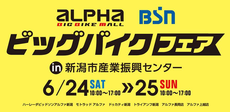 アルファビッグバイクフェア in 新潟市産業振興センター(2017/6/24-25 開催)
