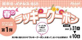 原信・ナルス・BSN 春のラッキークーポンキャンペーン(第1弾)