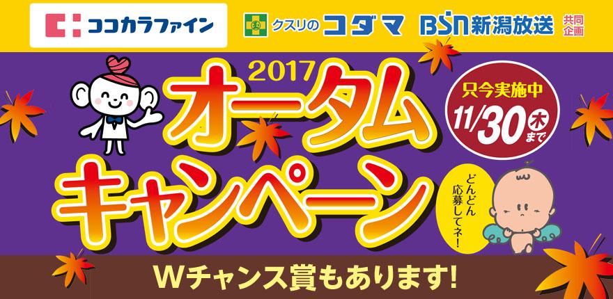 ココカラファイン・クスリのコダマ・BSN 2017オータムキャンペーンイメージ