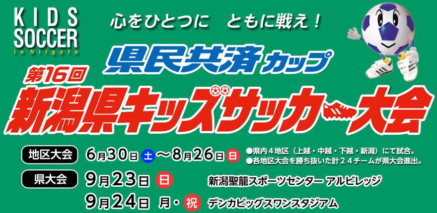 県民共済カップ 第16回新潟県キッズサッカー大会イメージ