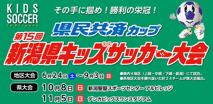 県民共済カップ 第15回新潟県キッズサッカー大会イメージ