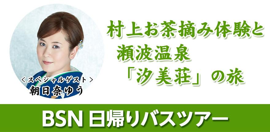 村上お茶摘み体験と瀬波温泉「汐美荘」の旅