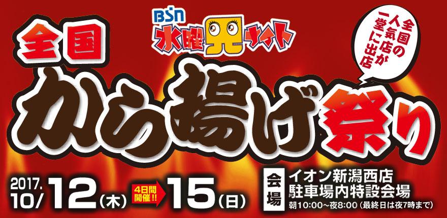 BSN水曜見ナイト 全国から揚げ祭りイメージ