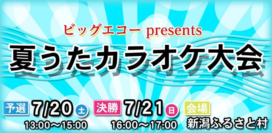 ビッグエコー presents BSN夏うたカラオケ大会イメージ