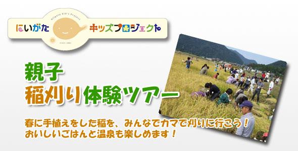 親子稲刈り体験ツアー