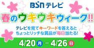 BSNテレビ 春のウキウキウィーク!!