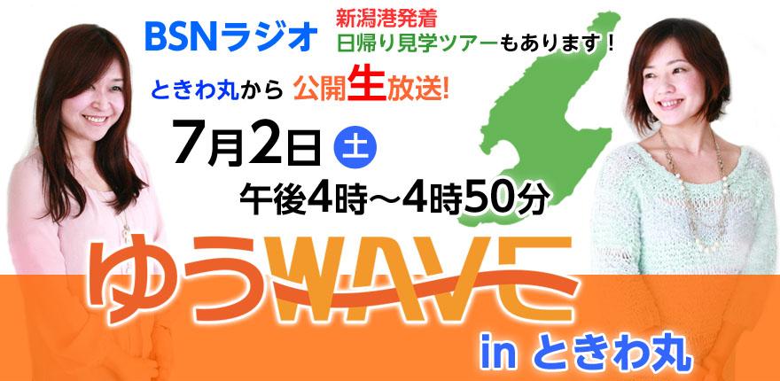 イベント 「ゆうWAVE in ときわ丸」(公開生放送2016/07/02)イメージ