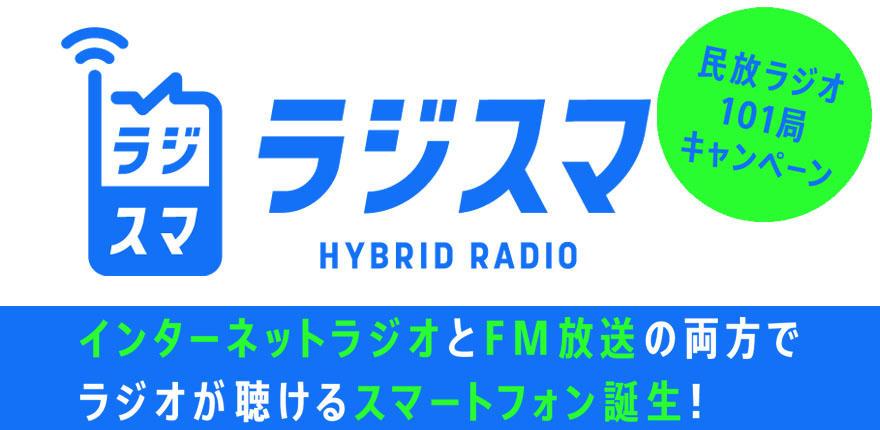 民放ラジオ101局「ラジスマPRキャンペーン」イメージ