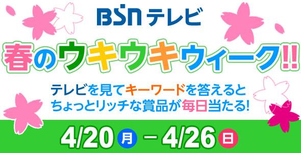 1009_BSNテレビ 春のウキウキウィーク!!イメージ