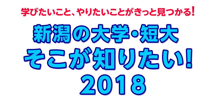 新潟の大学・短大そこが知りたい2018イメージ