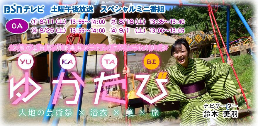 ゆかたび 大地の芸術祭×浴衣×美×旅イメージ